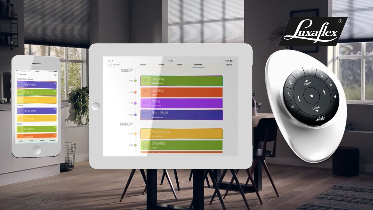 home automation luxaflex Posner Interiors